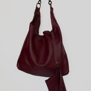 handcrafted leather hobo bag
