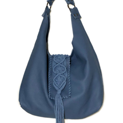 destiny blue hobo bag
