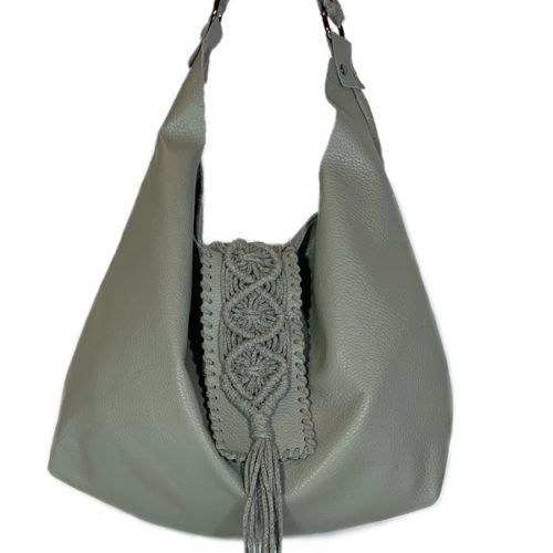 destiny grey hobo bag