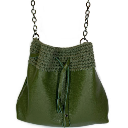 GRACE LEATHER BUCKET BAG